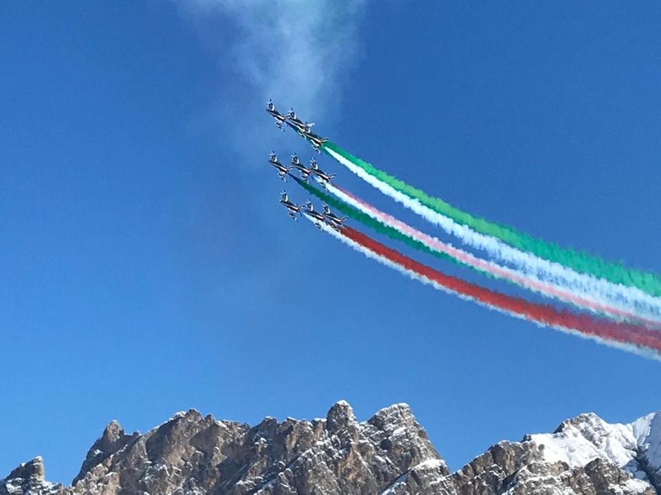 Frecce Tricolori su Cortina
